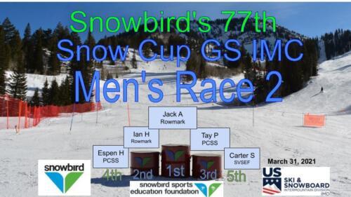2021 Snowcup Men's GS 2 Podium
