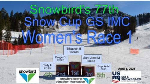 2021 Snowcup Podium GS W 1