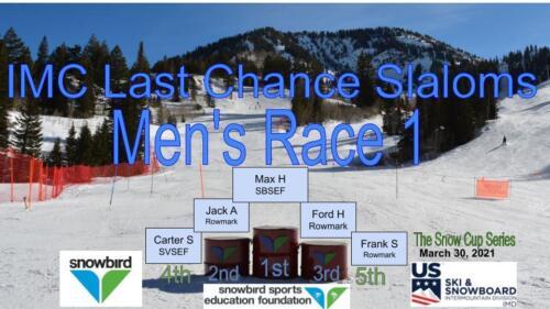 2021 Snowcup Men's SL 1 Podium