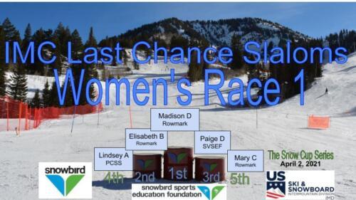 2021 Snowcup Podium SL W 1