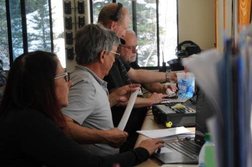 Snowbird timing crew in action.