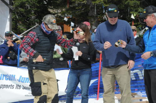 Sun Valley's Scott McGrew does his cowbell happy dance.