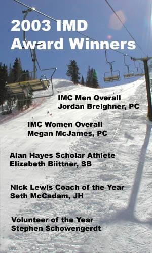2003 winners